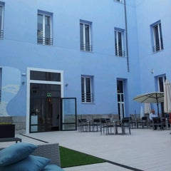Photo taken at Petit Palace Santa Barbara by Francesco G. on 7/30/2012