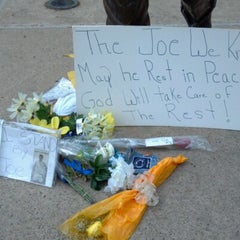 Photo taken at Joe Paterno Statue by Michele on 7/15/2012