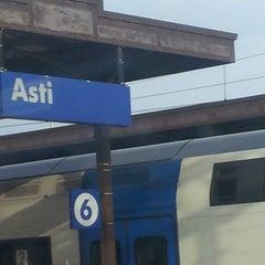 Photo taken at Stazione Asti by Antonino Sergio B. on 7/1/2012