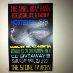 Photo taken at The Stone Tavern by Jenniffer H. on 4/14/2011