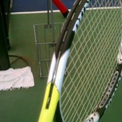 Photo taken at Tennis Courts by Kwame A. on 1/25/2012