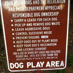 Photo taken at Buena Vista Park Dog Run by Mark H. on 5/9/2011