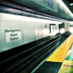 Photo taken at Montgomery St. BART Station by Nic A. on 5/23/2012