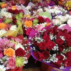 Photo taken at Dangwa Flower Market by Kikaymuch.Me C. on 4/26/2012