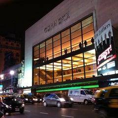 Photo taken at Avenida Corrientes by Rodrigo I. on 4/30/2012