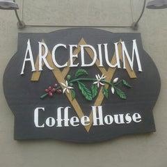 Photo taken at Arcedium Coffeehouse Inc by Travis C. on 5/27/2011