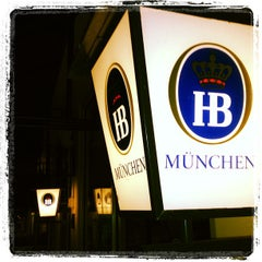 Photo taken at Hofbräu München Beer Hall by John R. on 4/1/2012