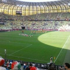 Photo taken at PGE Arena Gdańsk by Andrea Z. on 6/10/2012