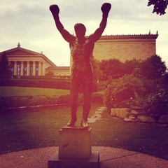 Photo taken at Rocky Statue by Bridget C. on 8/25/2012
