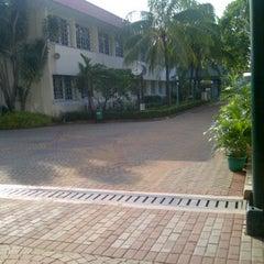 Photo taken at Jakarta International Korean School by Merryta P. on 4/15/2012