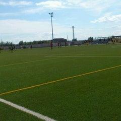 Photo taken at Camp De Futbol De St. Pere Pescador by Jaume S. on 4/21/2012
