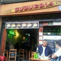 Photo taken at RestoBar Suburbia by Yhanko P. on 11/19/2011