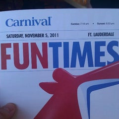 Photo taken at Carnival Freedom by Chuck S. on 11/5/2011