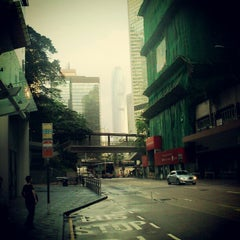 Photo taken at Three Pacific Place Bus Stop 太古廣場三座巴士站 by Paul B. on 5/3/2012