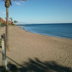 Photo taken at Playa Santa Ana by Ser G. on 12/11/2011