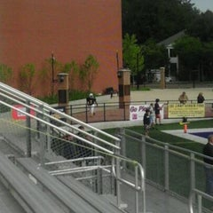 Photo taken at Memorial Field EGR Stadium by LaKeesha P. on 9/17/2011