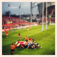 Photo taken at Thomond Park by Stephen O. on 4/1/2012