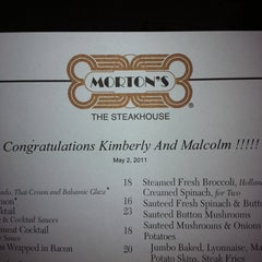 Photo taken at Morton's The Steakhouse by Malcolm P. on 5/3/2011