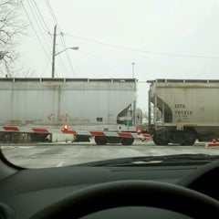 Photo taken at Michigan Street Railroad Crossing by Alan R. on 1/20/2012