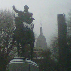 Photo taken at George Washington Statue by Bill A. on 1/21/2012