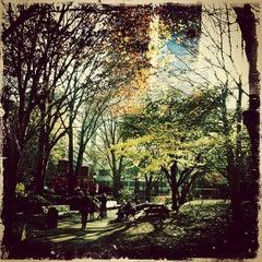 Photo taken at Washington Market Park by Adam O. on 11/26/2011