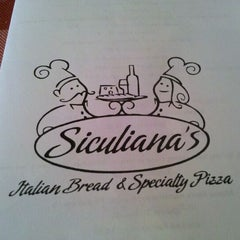 Photo taken at Sicliana's Italian Bread & Specialty Pizza by Josh U. on 10/1/2011