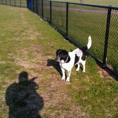 Photo taken at Kaposia Landing Off-Leash Dog Park by Kevin M. on 4/8/2012