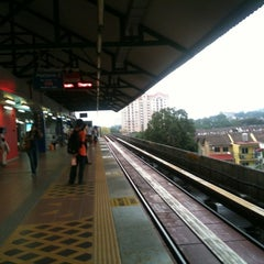 Photo taken at RapidKL Wangsa Maju (KJ3) LRT Station by gurpreet h. on 3/18/2012