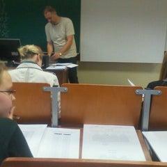 Photo taken at Vilniaus universiteto Filosofijos fakultetas by Edgaras L. on 10/3/2011