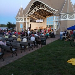 Photo taken at Lake Harriet Band Shell by Kenna C. on 8/5/2012