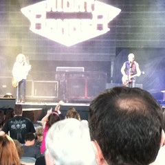 Photo taken at Virginia Beach Amphitheater by Tracy G. on 8/19/2011