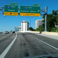 Photo taken at Interstate 4 & FL State Route 408 by Victor P. on 10/21/2011