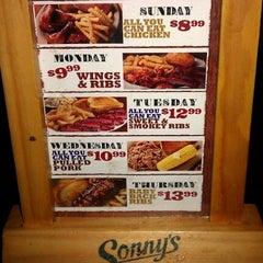Photo taken at Sonny's BBQ by John G. on 2/18/2012