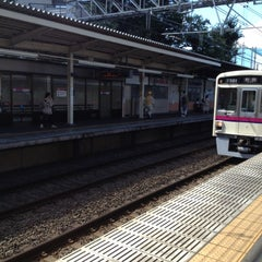 Photo taken at 柴崎駅 (Shibasaki Sta.) (KO15) by Mochi M. on 8/19/2012