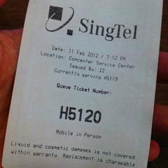 Photo taken at Singtel Comcentre iPhone Tech Desk by Bernard L. on 2/11/2012