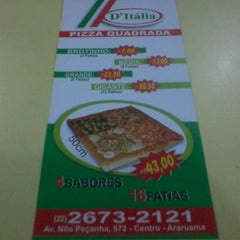 Photo taken at D'Itália Pizza Quadrada by Emanoel C. on 10/9/2011