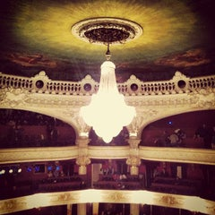 Photo taken at Teatro Municipal de Santiago by Nicolas R. on 8/14/2012