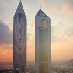 Photo taken at Emirates Towers أبراج الإمارات by İmge A. on 9/5/2012