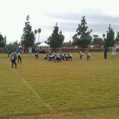 Photo taken at Rancho Cucamonga Pop Warner Field by Todd V. on 11/12/2011