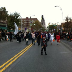 Photo taken at Jackson Heights Halloween Parade by Edgar M. on 10/31/2011