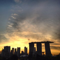 Photo taken at Marina Barrage by Vinson P. on 4/1/2012