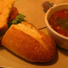 Photo taken at Panera Bread by Jonathan C. on 3/10/2012