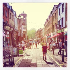 Photo taken at Exmouth Market by Andy H. on 5/22/2012