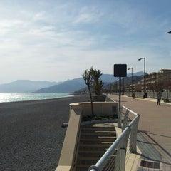 Photo taken at Passeggiata Bordighera-Vallecrosia by Fabius ♌ T. on 4/27/2012