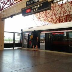 Photo taken at Jurong East MRT Interchange (NS1/EW24) by Arresterdramon W. on 2/11/2012