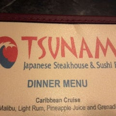 Photo taken at Tsunami Japanese Steakhouse and Sushi Bar by Jerri Ann R. on 6/4/2012