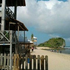 Photo taken at Pantai Indrayanti by Sigit P. on 6/21/2012