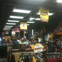 Photo taken at Sparky's Stadium Shop by Ellen Streiff on 12/9/2011