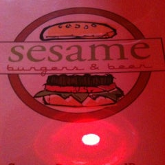 Photo taken at Sesame Burgers & Beer by April on 7/10/2012