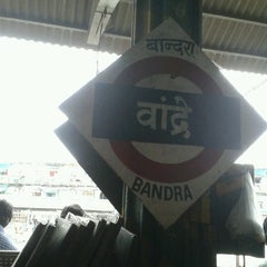 Photo taken at Bandra Railway Station by Priti K. on 6/20/2012